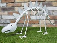 Large Freestanding White Dinosaur Garden Ornament