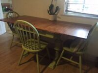Bargain! Cheap shabby chic gorgeous table and chairs!!!£50