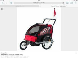 Bike trailer stroller
