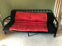 Metal Framed Double Futon / Sofa Bed