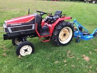 Yanmar F175 2WD Compact Tractor with New 4ft Finshing Mower