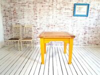 Dining Table to Seat Eight People - Modern Rustic Style Farmhouse Tapered Leg Extending