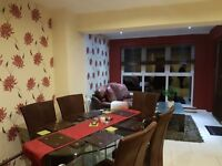 Contemporary kitchen glass table with 6 chairs purchased in keens belfast