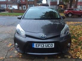 2013 Toyota Yaris HYBRID AUTOMATIC T4 Grey FSH 1 ex lease company car HPI CLEAR micra jazz corsa