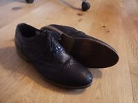 Mens Brooklyn Brogues - Black Italian Leather, Lace ups - Size 9 - Barely worn and in original box