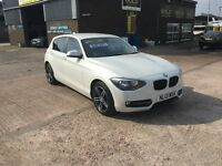 2013 BMW 118D SPORT,6 SPEED,STOP START, TURBO DIESEL,ONLY 75000 MLS,IN STUNNING CONDITION THROUGHOUT