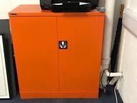 Office cupboard - orange silver line