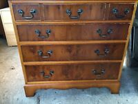 Yew Chest of Drawers in good condition