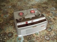 Cossor reel to reel tape deck including one tape and reel