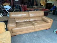 Large brown leather chesterfield sofa UK DELIVERY