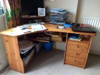 Wooden corner desk