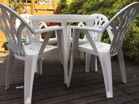 Patio/garden furniture chairs and table