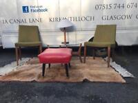Pair of vintage teak framed gplan chairs