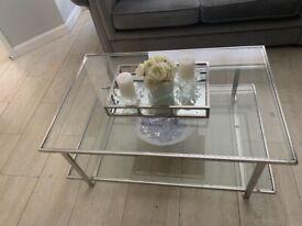 Glass madison glass coffee table