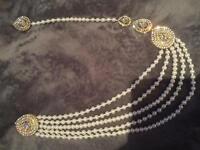 Silver wedding brooch chain