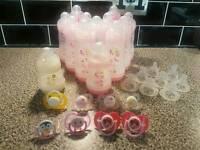 Various baby bottles