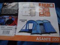 Large Vango Family Tent + Front Canopy