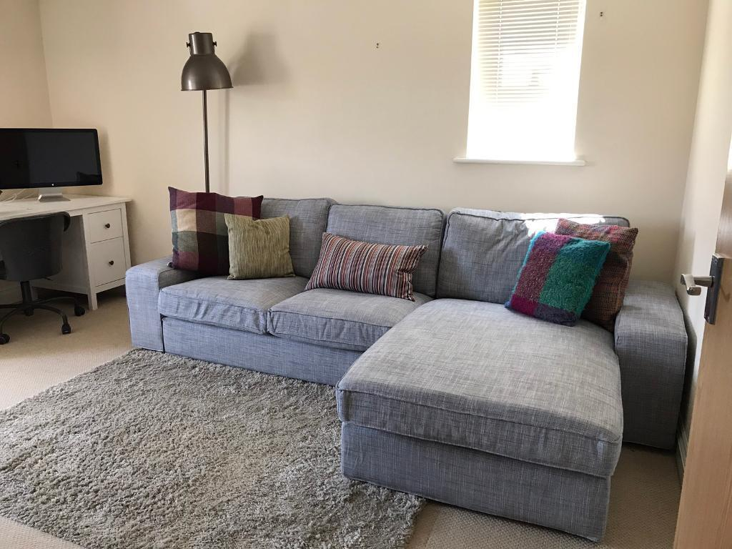 as new kivik ikea corner sofa with chaise lounge in grey can deliver on saturday in. Black Bedroom Furniture Sets. Home Design Ideas