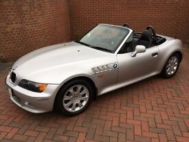 1999 BMW Z3 2.0 SILVER, Blue Hood, Leather Interior, Remote Start Alarm, Alloys, 4 New Tyres