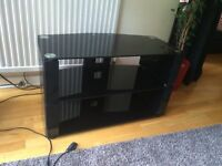 Black Glass TV Stand For up to 50 inch TVs