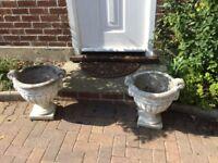A Pair of Garden Urns