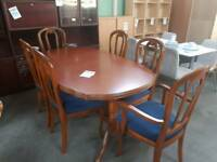 Lovely large dining table with 4 chairs