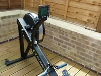 Concept 2 Model D Rower in Black with PM5, less than 7 hours use, as new condition