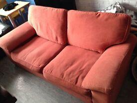 Marks & Spencer Terracotta Sofa