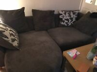 4 seater grey corner sofa for sale, fab condition, less than 4 years old, Beeston Nottingham