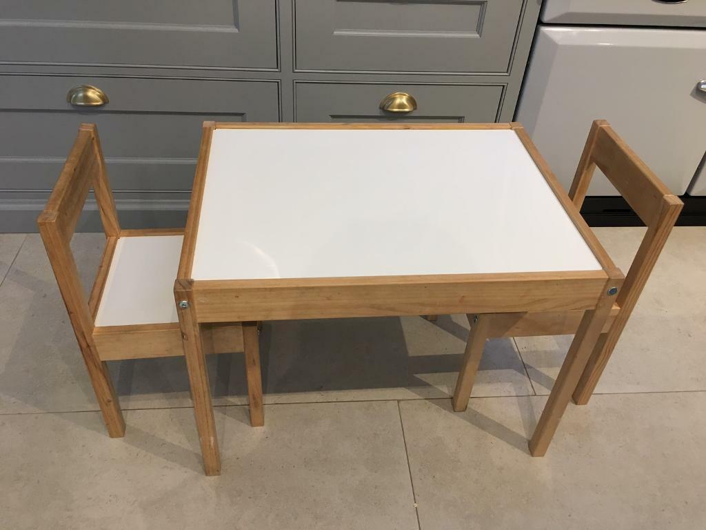 Ikea L 196 Tt Children S Table With 2 Chairs Used In North