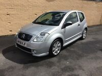 Citroen C2 VTR. 12 month MOT. Brand New Full Service. Very low mileage 26500! 2 new tyres.