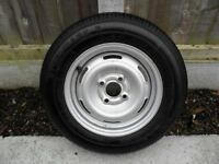 Caravan wheel/tyre (Kelly Steelmark 3), 4 stud 155 R13 78T in excellent condition