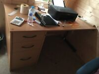 3 Office tables and 2 drawer cabins