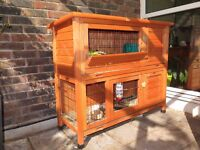 RABBIT HUTCH. Suitable for rabbits and guinea pigs and other small pets. Used good condition.