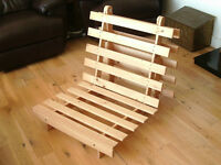 Wooden Slatted Folding Bed and Chair Frame