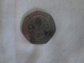 50p - 50 pence be prepared 1907- 2007 scouting circulated coin