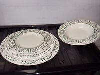 """Hornsea pottery """"forest"""" 2 plates/ 2 bowls and 2 side plates"""