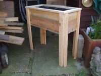 NEW TALL WOODEN PLANTER