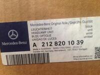 Mercedes 212 E-CLASS Right hand headlight