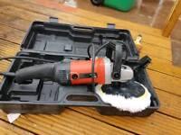 Angle grinder polishing