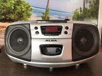 ALBA Stereo Compact CD and Cassette Player with Radio