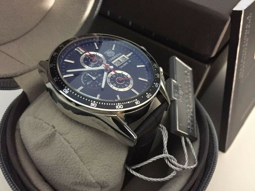 [SOLD] TAG HEUER CARRERA CALIBRE 16 DAY-DATE CHRONO ... |Tag Heuer Carrera Calibre 16 Quartz