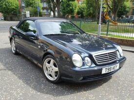 mercedes clk sport 3.2 v6 convertible auto amg body kit amg alloys wheels