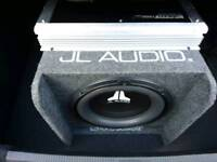 JL AUDIO SUBWOOFER WITH AMPLIFIER