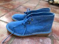 Light Blue Leather safari Boot