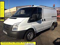 Ford Transit Van 2.2 300-1 Owner Ex BT- FSH 7 Stamps -1YR MOT- 41K Miles -Parking Sensors - WARRANTY