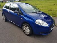 Fiat Grande Punto 1.2 Full Yrs MOT Warranty. Not 307/Corsa/Micra/Clio/Ka