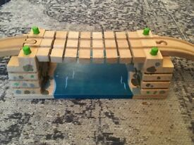 Bigjigs Clickety Clack Bridge. Fits Brio and Thomas Wooden Railway