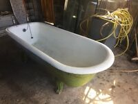 Victorian iron roll top bath