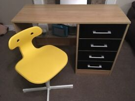 Child's desk and chair - excellent condition